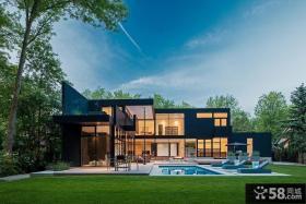 现代二层别墅阳光房效果图
