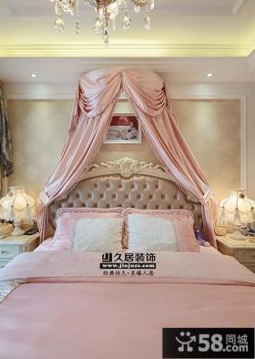 欧式风格公主舒适卧室床头背景墙效果图