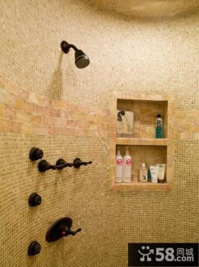 小复式家庭卫生间瓷砖效果图