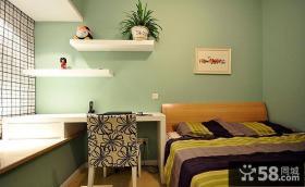 现代中式二居客厅窗帘效果图