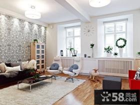 现代风格客厅沙发背景墙家庭装修设计