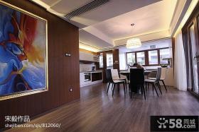 新中式风格餐厅吊顶效果图片欣赏
