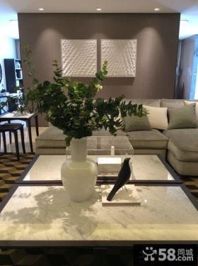 现代风格室内沙发背景墙设计装修效果图