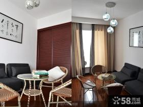 现代中式小户型客厅装修效果图片