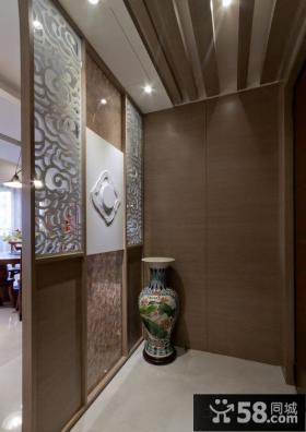 中式玄关屏风隔断架图片