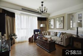 美式小客厅吊顶