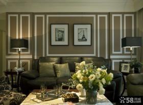 乡村美式风格别墅室内效果图