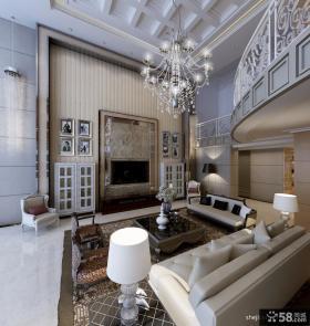 欧式别墅装修效果图 2012优质欧式别墅电视背景墙