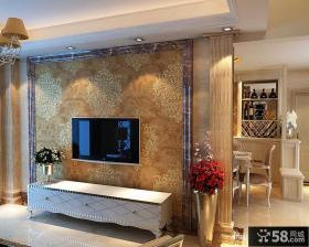 大理石花纹电视背景墙装修效果图
