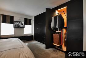 现代欧式卧室整体衣柜图片