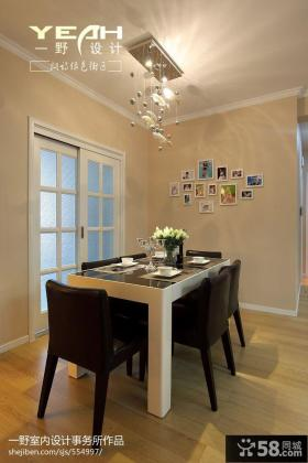 现代家装小餐厅背景墙效果图欣赏