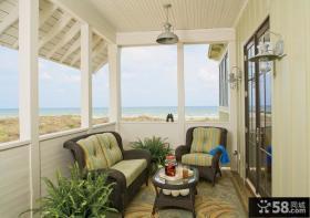 欧式卧室阳台装修效果图 小阳台装修效果图