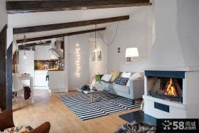 客厅生态木吊顶装修图片