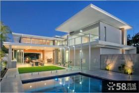 现代私人别墅外观设计效果图