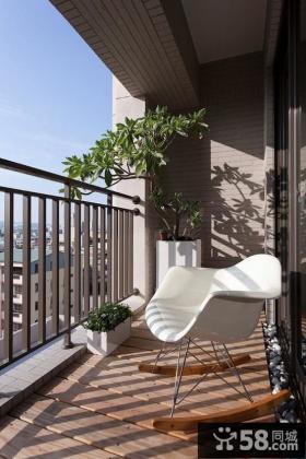 阳台装修效果图大全2013图片 室内阳台护栏装修设计