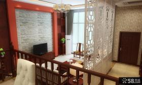 新中式客厅电视背景墙装修图片