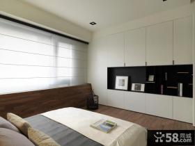 简约风格卧室入墙式壁柜效果图
