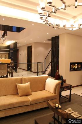 中式风格别墅客厅沙发效果图