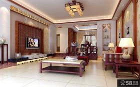 中式客厅吊顶装修效果图大全