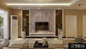 艺术瓷砖电视背景墙效果图1