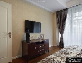 主卧室电视背景墙设计效果图