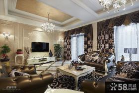 别墅大客厅电视背景墙装修效果图