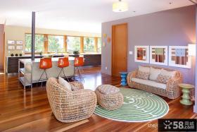 小复式多色彩客厅装修效果图