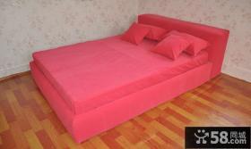 卧室榻榻米床壁纸效果图