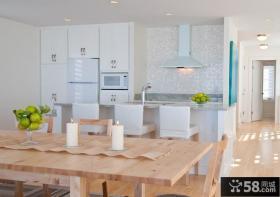 北欧简约风格厨房餐厅实木餐厅图片大全