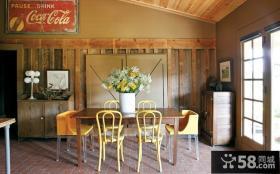 经典简约的美式风格装修餐厅图片