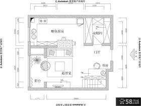 小复式楼一楼平面图