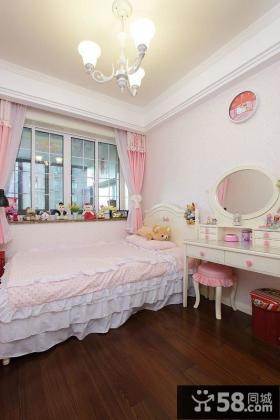 美式粉色儿童房布置