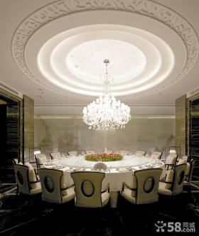 中式新古典风格餐厅吊顶图片大全