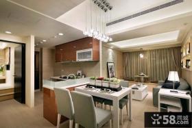 现代风格厨房餐厅吊顶灯装修效果图