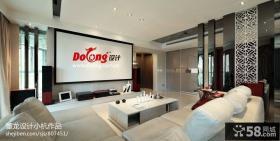现代风格简约优质客厅影视墙设计