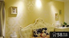 温馨欧式卧室壁纸装修效果图欣赏