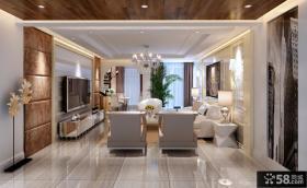 现代风格客厅电视背景墙设计图