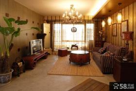 日式现代装修风格客厅电视背景墙装修效果图