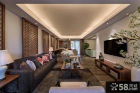 中式风格复式家庭户型装修效果图大全