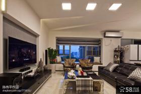 现代风格客厅影视背景墙设计图片
