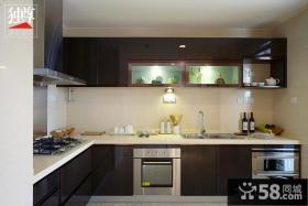 厨房L型整体橱柜装修样板间