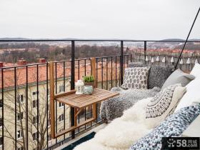 北欧风格休闲小阳台软装