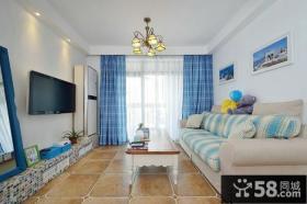 地中海设计客厅电视背景墙效果图