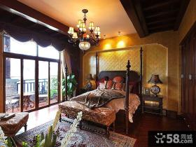 乡村复古欧式风格卧室设计图片