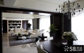 现代风格客厅餐厅装修效果图欣赏