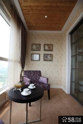家装封闭式小阳台图片欣赏