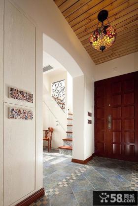 别墅玄关吊顶灯装饰效果图片