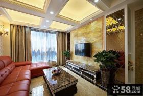 时尚现代客厅电视背景墙装修