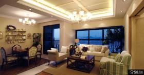 整体客厅有梁吊顶装修效果图欣赏