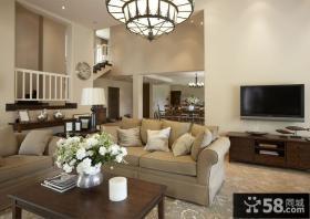 北欧风格复式楼客厅装修效果图大全2013图片